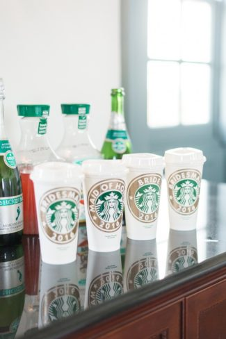 bridal Starbucks coffee cups