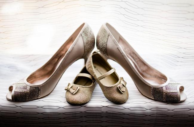 bridal heels and baby heels