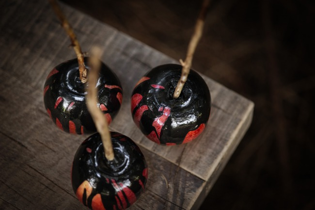 candied black apples