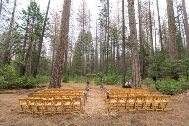 ceremony outdoors in forest