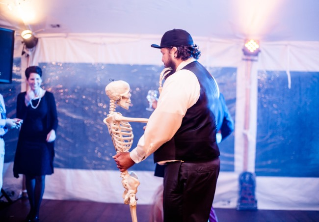dancing with a skeleton