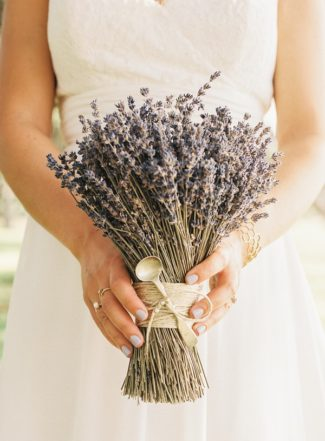 dried lavender bridal bouquet