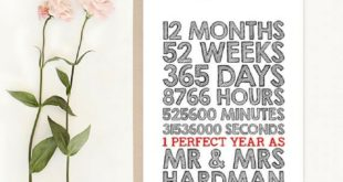first wedding anniversary gift paper card