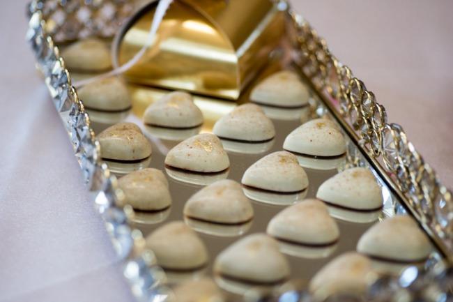 hearts on silver tray