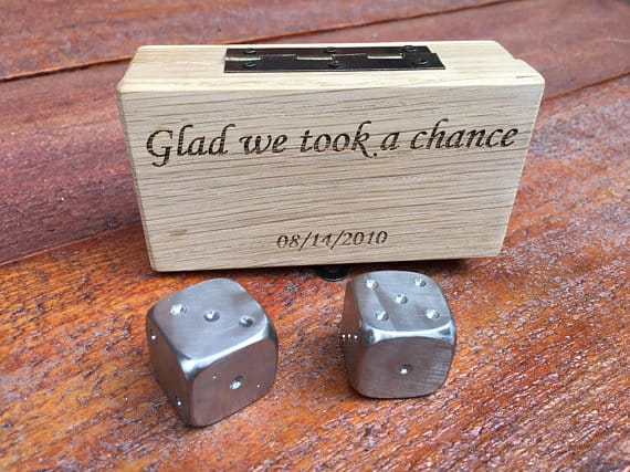 iron dice for 6th anniversary gift