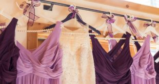 mismatched purple bridesmaid dresses