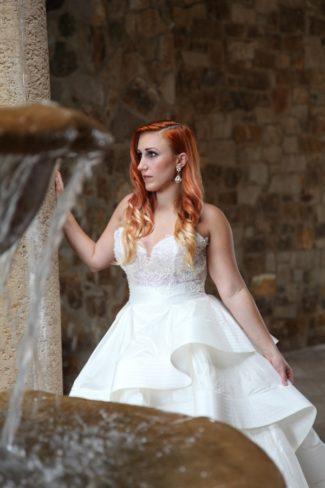 model in wedding gown