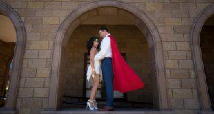 model superman and wonder woman