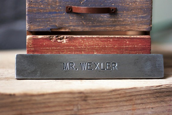 personalized iron name plate for 6th anniversary gift