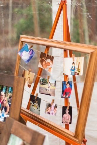picture frame with family photos