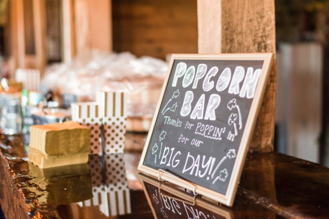 popcorn bar chalkboard sign