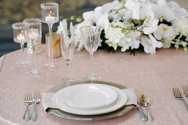 romance inspired table scape