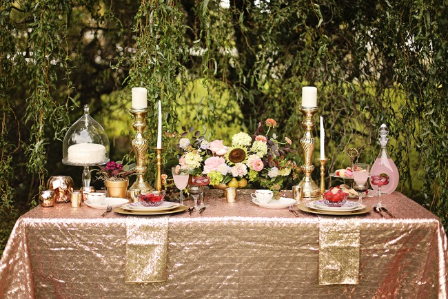 styled southern belle tablescape