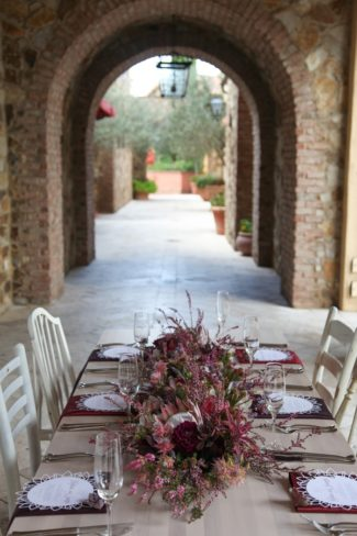 styled table on terrace at Bella Collina