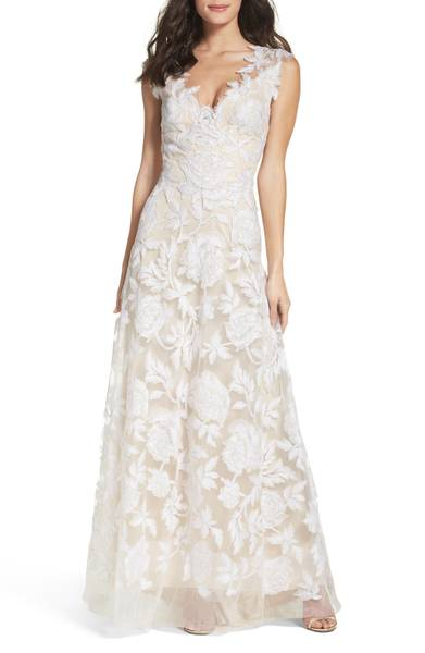 A-Line Lace Gown by tadashi shoji found at nordstroms