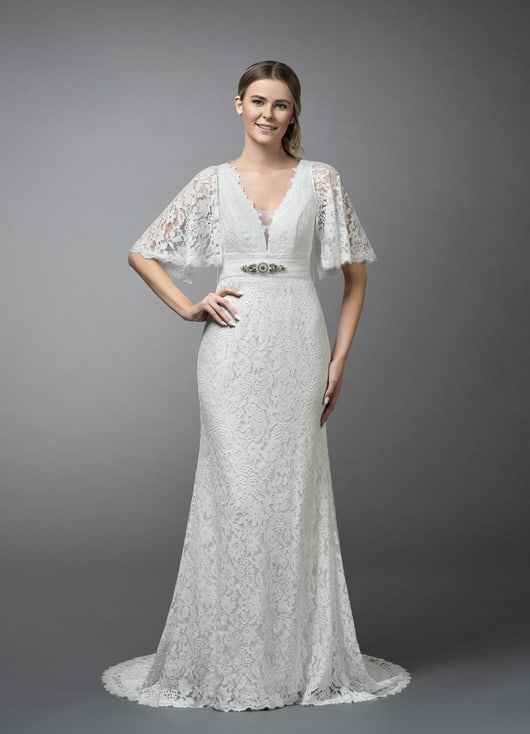 Azazie Boho Lace wedding dress