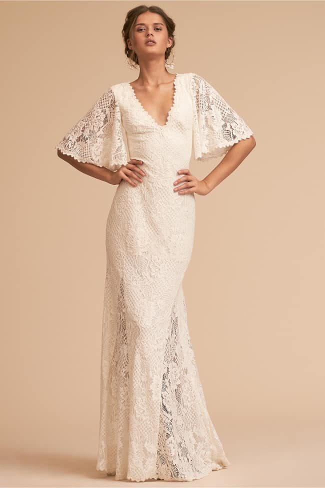 BHLDN Kieran Boho Lace wedding dress