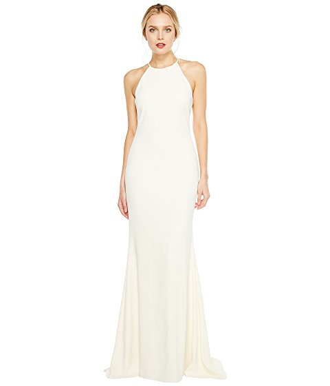 Badgley Mischka Racerback Stretch Crepe Halter Gown from 6pm