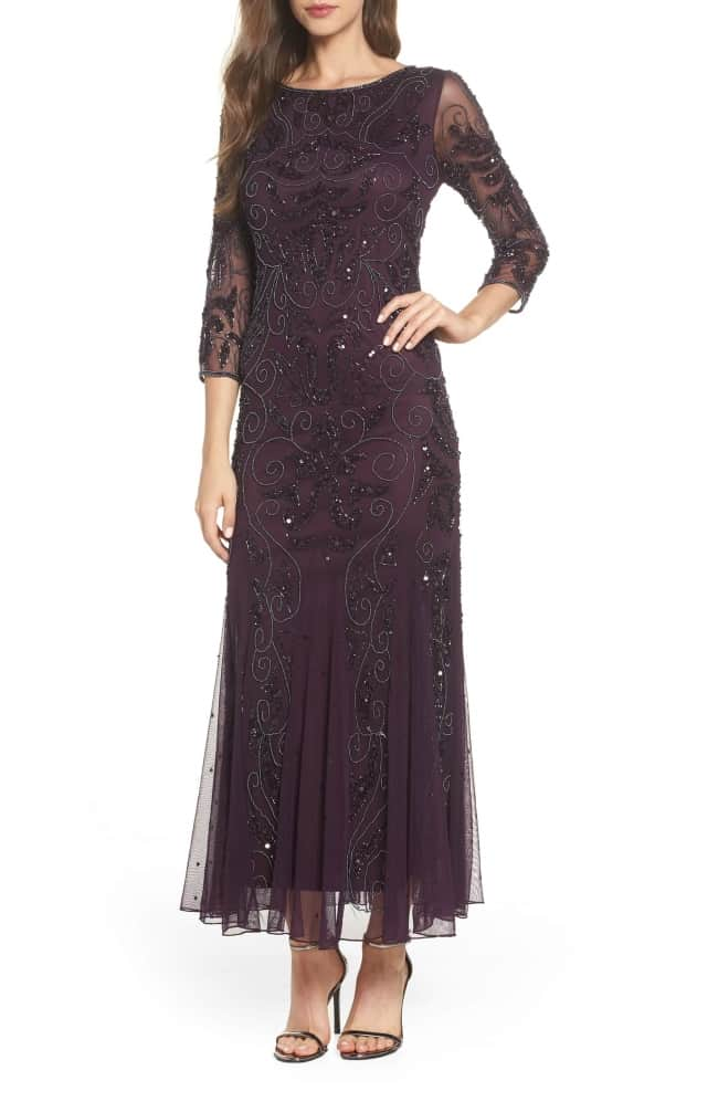 Black tie dress example for mother of the bride