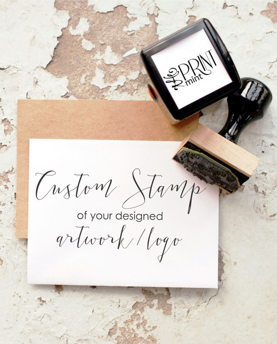 Custom Logo Stamp for wedding stationery