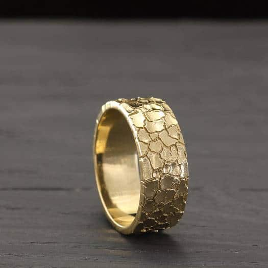 dry earth unique mens gold wedding band by wedding rings store - Mens Unique Wedding Ring