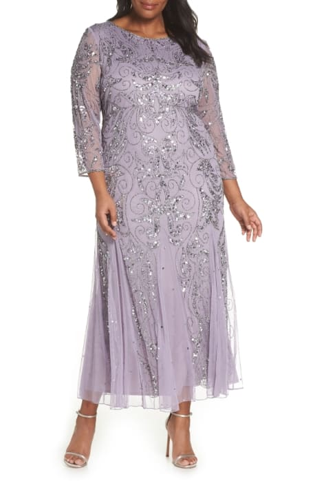 Example of a Black Tie Shorter Gown for Mother of the Bride