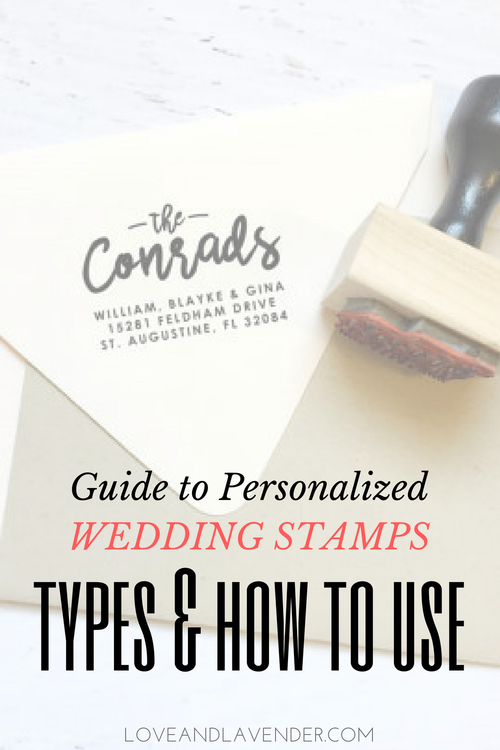 guide to personalized wedding stamps types how to use