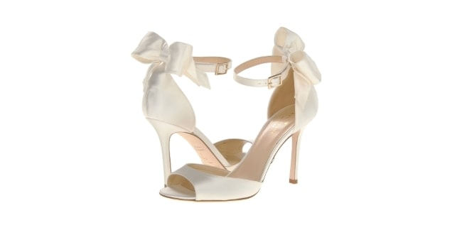 Izzie Kate Spade Bridal Heels with bow