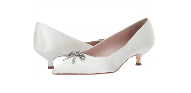 Kate Spade Bridal kitten heel with bow