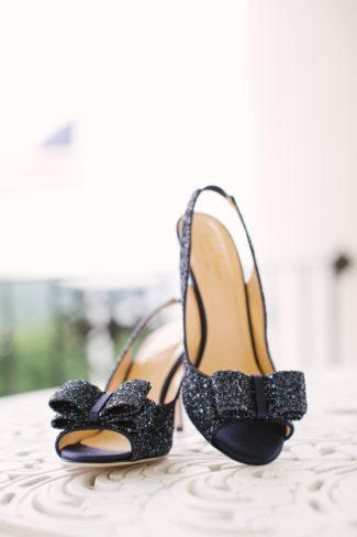 Kate Spade Sparkly Black bridal shoe Peep Toe Heels.jpg