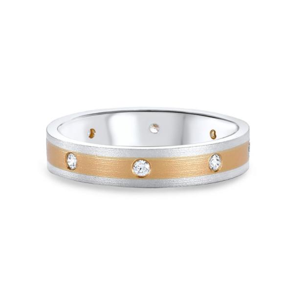 Two Tone Diamond Wedding Ring