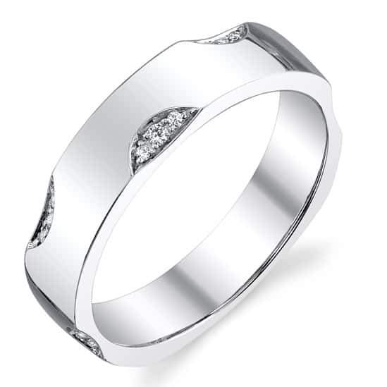 sleek polish mens wedding band