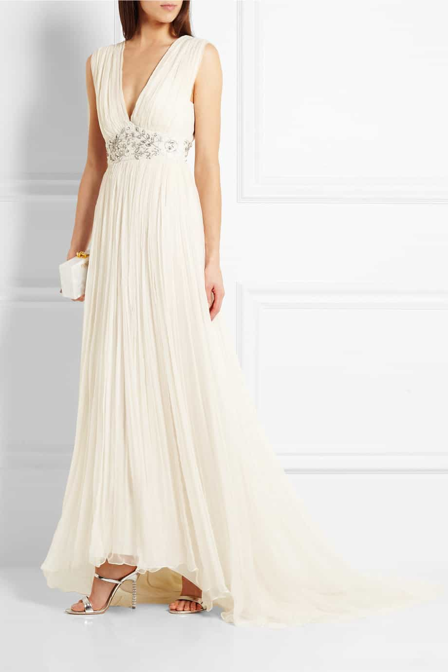 NEEDLE & THREAD Embellished chiffon gown from net a porter