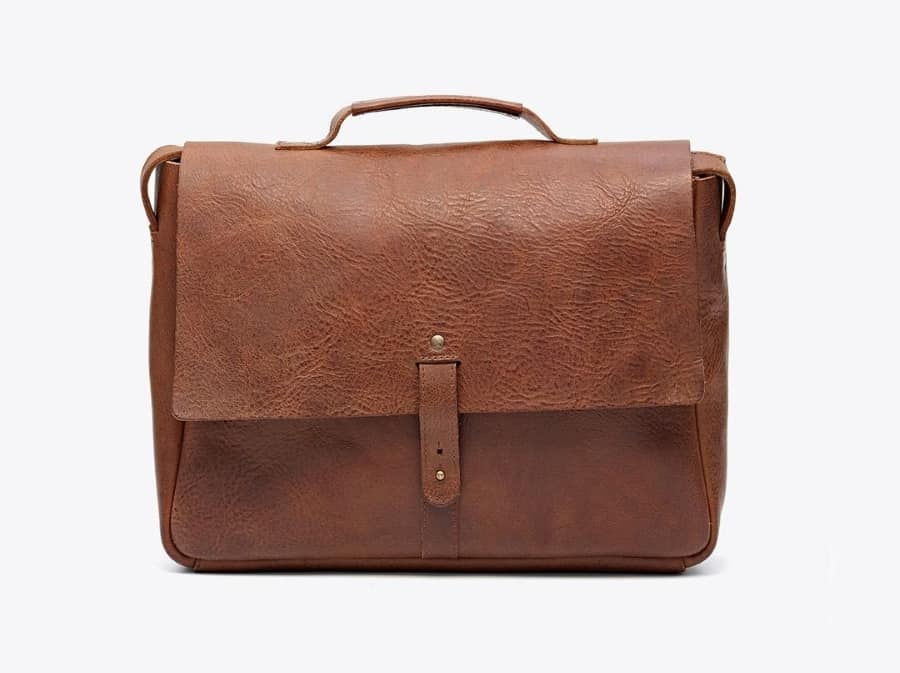 Nisolo loredo leather messenger bag