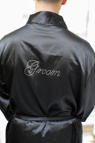 Personalized Groom silk robe