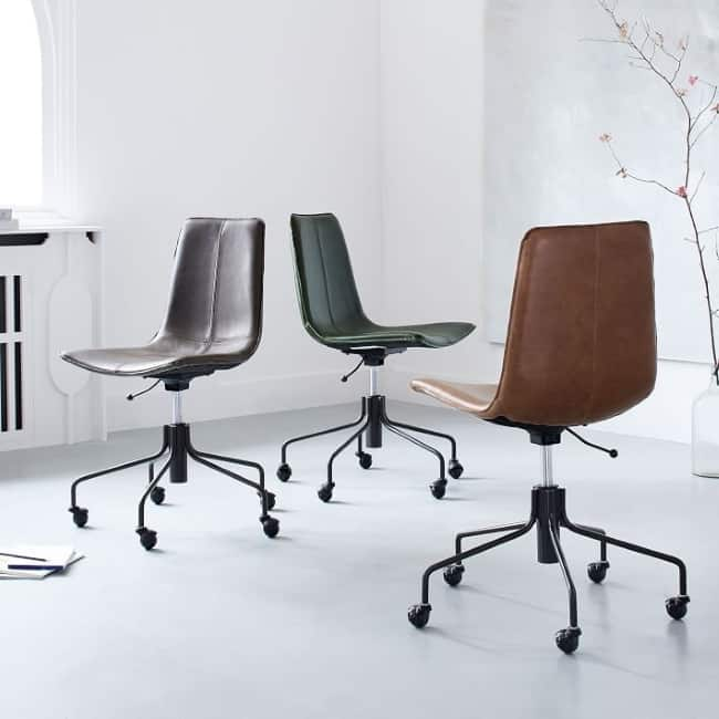 Slope Leather Swivel Office Chair anniversary gift