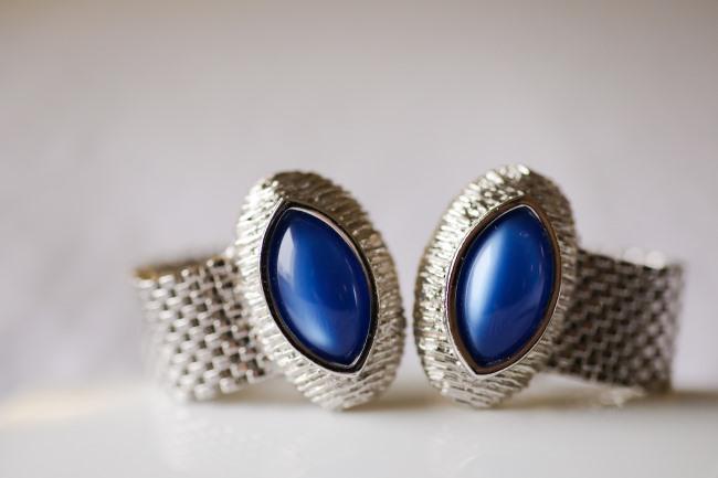blue gemstone cufflinks