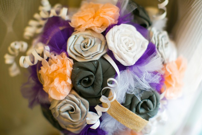 bouquet made from cloth