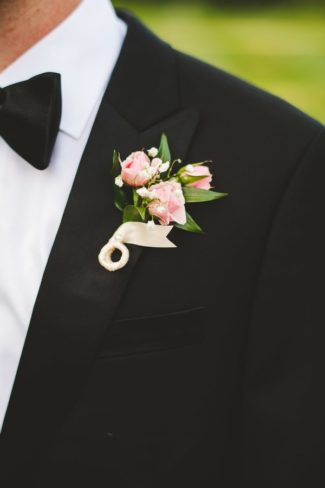 boutonniere on groom