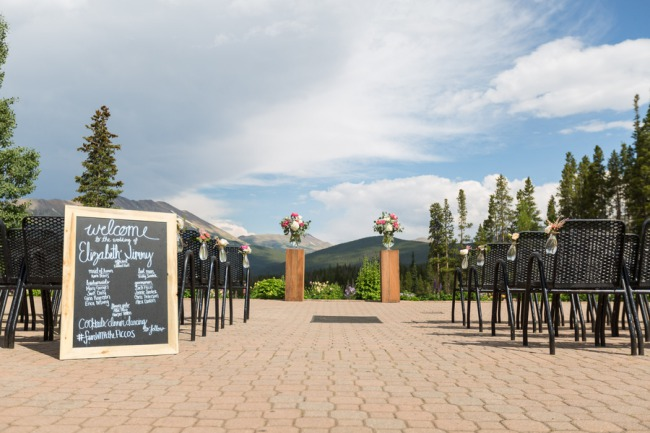 ceremony site at Breckenridge