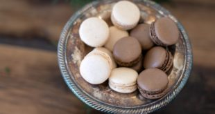 chocolate and white macaroons