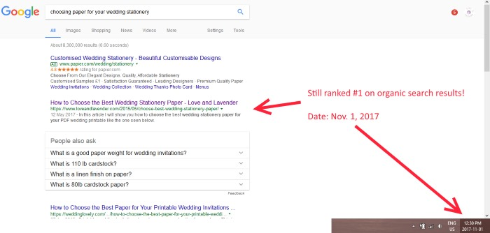 choose stationery paper google results