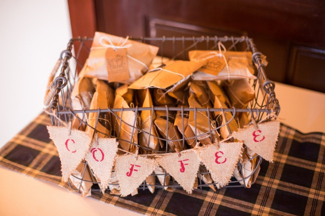 coffee favor packets