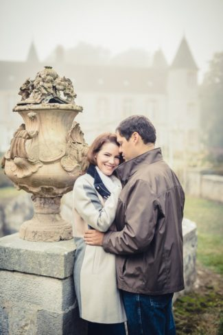 couple at ornate bridge