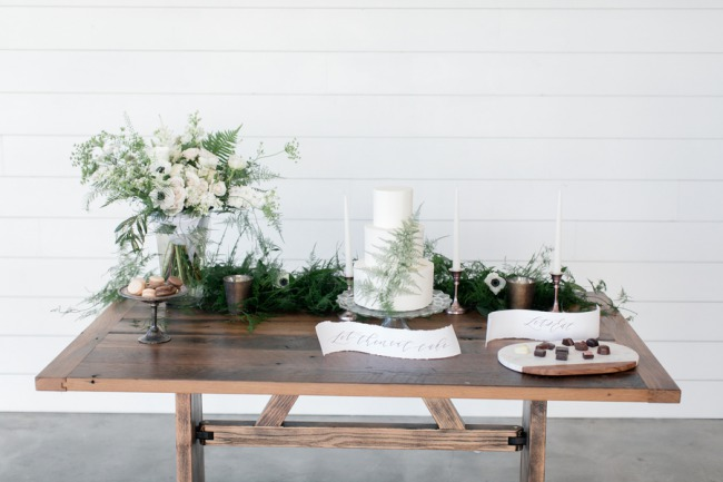 dessert table scape