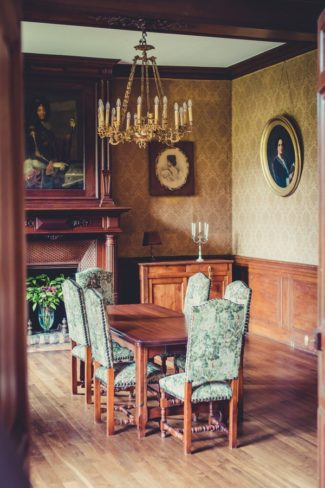 dining room in French castle