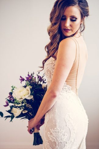 gorgeous pic of bride with bouquet