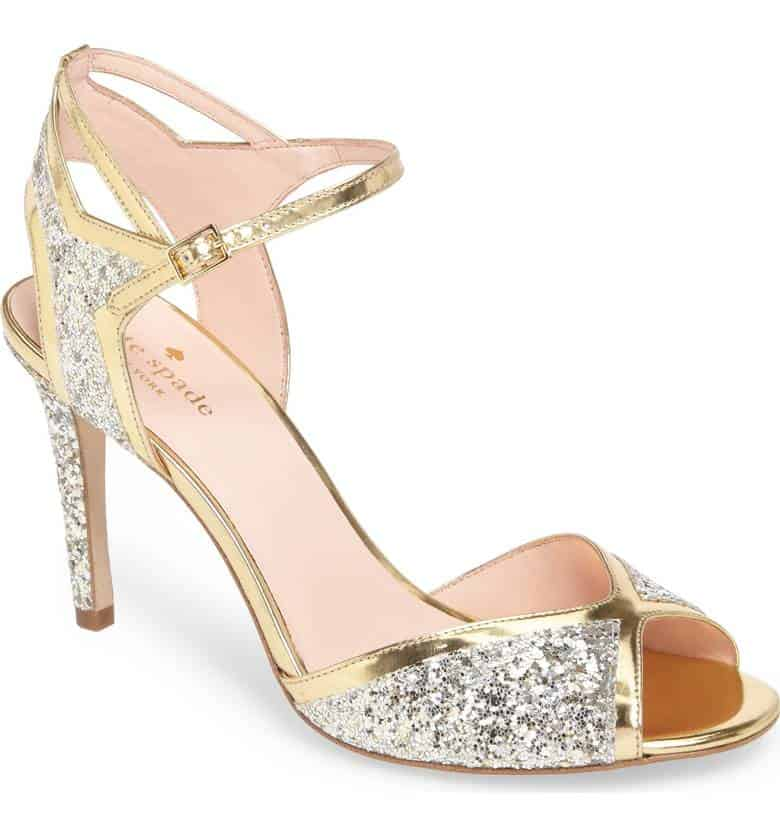 Kate spade wedding shoes playful sophistication kate spade oak sandal sparkly heel junglespirit Images