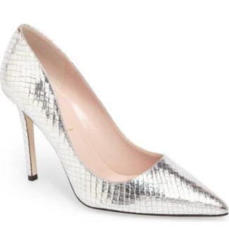 larisa pointy toe pump kate spade metallic heels