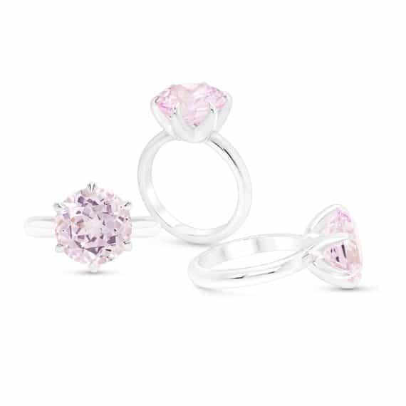 light pink sapphire engagement ring